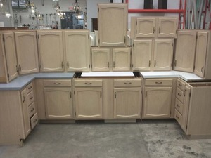 Weekly eblast february 16 2012 we have a break room couch - Whitewashed oak cabinets ...